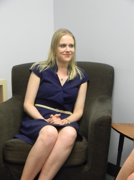 Alicia seated
